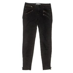 Zara Basic Z1975 Denim Black Ankle Skinny Jeans